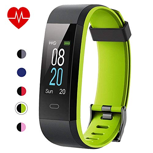 Fitness Tracker with Heart Rate Monitor,Willful Activity Tracker Pedometer with Step Counter Sleep Monitor 14 Sports Tracking,Color Screen IP68 Waterproof,Fitness Watch for Women Men Kids (Green)
