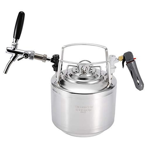 Sistema de Barril de Cerveza - Grifo de Acero Inoxidable Growler, Dispensador de Barril de Cerveza Mini Coke Opcional de 6L / 10L / 12L Kit portátil Kegerator para Cerveza Artesanal(6L)
