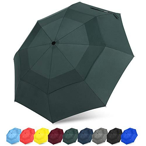 G4Free Winddichter kompakter Tragbarer Regenschirm Automatiche Öffnung und Schließung Einhandbedienung Reiseschirm Dupont Teflon Fast Drying 210T Stoff für Männer/Frauen