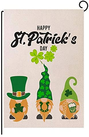 ValueVinylArt St Patrick s Day Garden Flag Small Flag Vertical Double Sized Holiday Burlap Flag product image