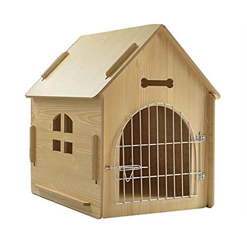 HQ2 Casa de Mascotas de Madera, ventilada en Cuatro Temporadas, instalación Simple, Lugar cómodo y Resistente a los rasguños para Dormir, Usado para Mascotas de hasta 9 kg.