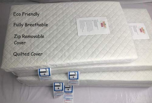 BABY REX Superior Quilted Travel Cot Mattress 95 x 65 x 10 cm Thick - Fully Breathable