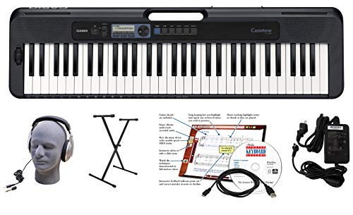 Casio CT-S300 61-Key Premium Keyboard Package with Headphones, Stand, Power Supply, 6-Foot USB Cable and eMedia Instructional Software (CAS CTS300 EPA)