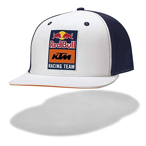 Red Bull KTM Essential Snapback Cap, Unisex One Size - Official Merchandise White