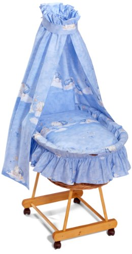 Julius Zöllner 5900019053 – Kit complet de Berceau fanten Doudou Bleu