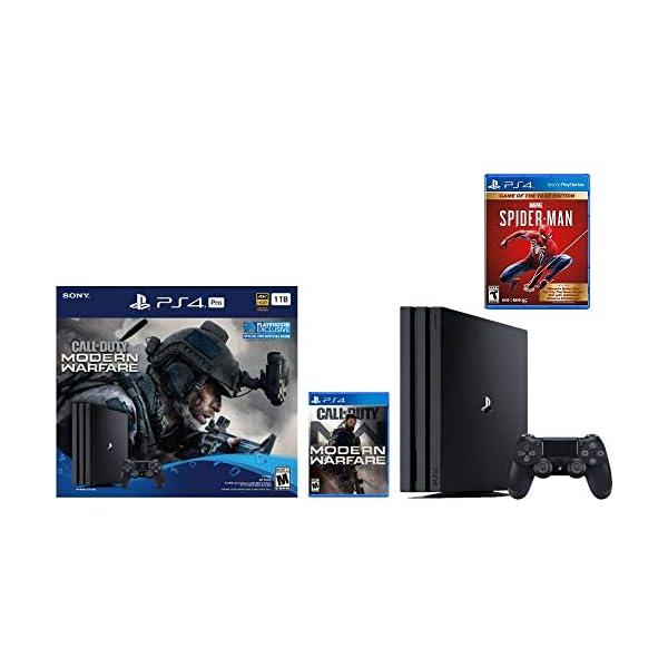 Newest Sony PlayStation 4 Pro 1TB Console Call of Duty: Modern Warfare Bundle W /Game...