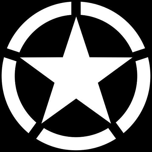 Aufkleber Stern US-Army, Weiß, 20 cm