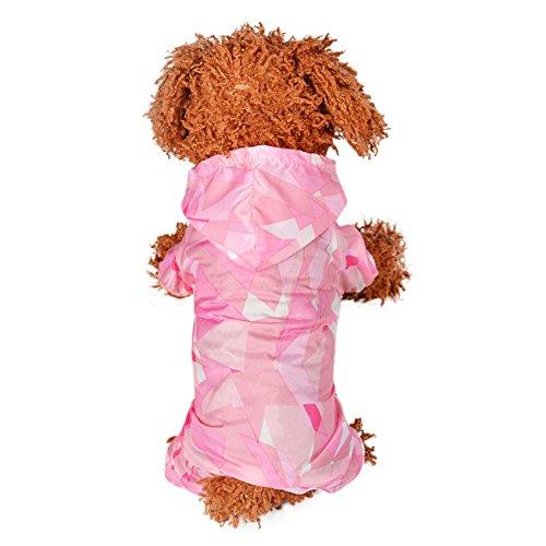 NINGXIAONING Lente en zomer Leuke puppy puppy huisdier zeer comfortabel badpak met korte mouwen, roze, M