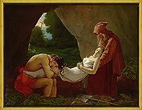 フレーム Anne Loouis Girodet ジクレープリント キャンバス 印刷 複製画 絵画 ポスター(アタラの埋葬)