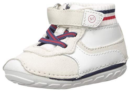 Stride Rite Boys' SM Asher Sneaker, White, 5 W US Toddler