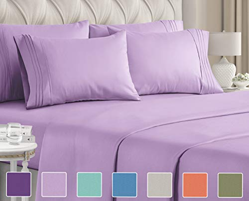Twin Size Sheet Set - 4 Piece Set - Hotel Luxury Bed Sheets - Extra Soft Bed Sheets - Deep Pocket Bed Sheets - Easy Fit - Breathable & Cooling - Wrinkle Free - Comfy - Bed Sheet Sets - Twin Bed Sheets