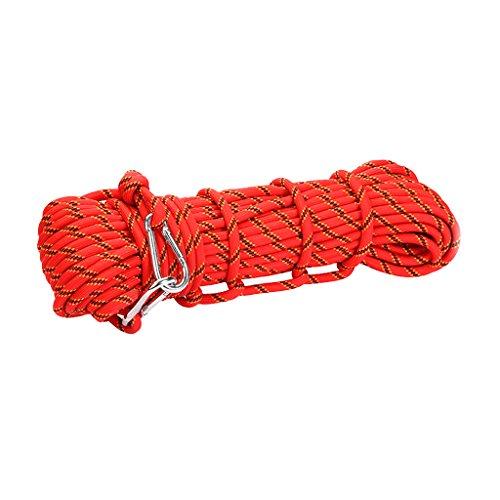 Générique Corde D'Escalade en Polyester Descente en Rappel Corde Auxiliaire de Sécurité Rouge 10M