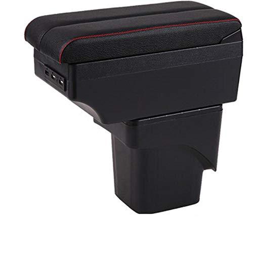LIGUANGWEN para Ford Focus 2 MK2 Box Box Central Store Caja de Contenido con Interfaz USB B Black Black Line (Color : C Style Beige)