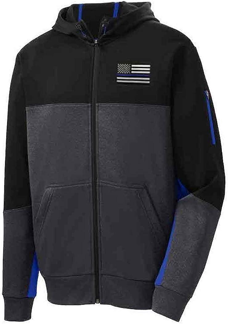Tech Fleece Colorblock Full-Zip Hooded Jacket, Thin Blue Line