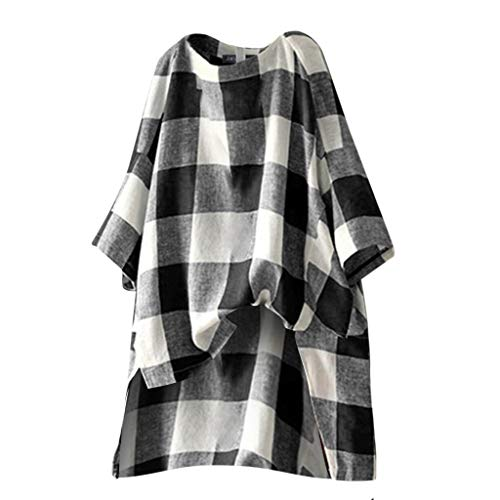Great Features Of Toimothcn Women Tunic Shirt Ladies Short Sleeve Solid Loose Plus Size Tunic Blouse...