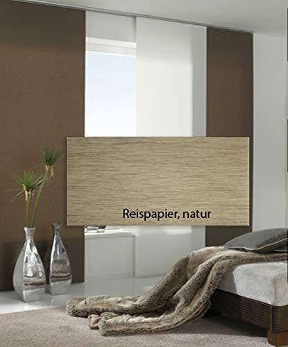 Maron Flächenvorhang Panel 60 x 245 cm Schiebe-Vorhang, Reispapier Natur