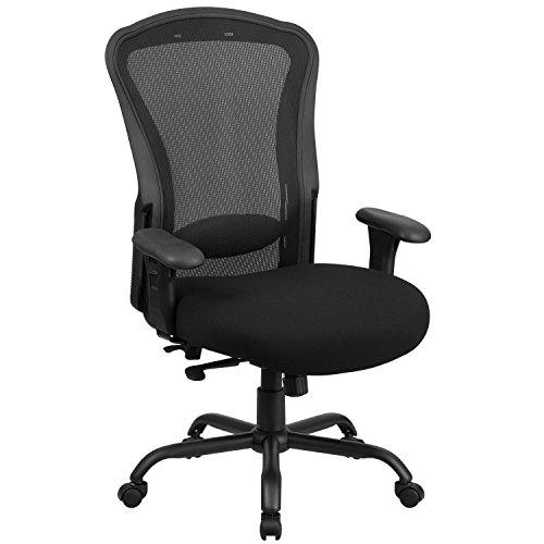Flash Furniture HERCULES Series 24/7 Intensive Use Big & Tall 400 lb. Rated Black Mesh Multifunction Synchro-Tilt Ergonomic Office Chair