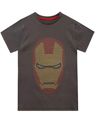Marvel Camiseta de Manga Corta para niños Iron Man Gris 5-6 Años