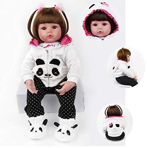 ZIYIUI Reborn Bambino Bambole 24 Pollici 60 cm Vero Silicone Morbido Vinile Realistico Bambole Reborn Femmine Fatto a Mano Neonato Giocattolo