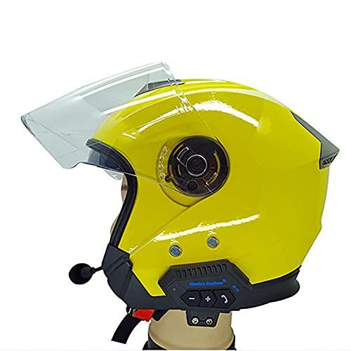 SDFLKAE BT-12 Bluetooth 4.0 casco auricular estéreo suave con micrófono motocicleta Interphone