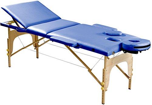 SportPlus Massageliege, Massagebank, Physioliege aus Holz, klappbar, höhenverstellbar, verstellbare Kopfstütze & Rückenlehne, 3 Zonen, Gesichtsauflage, Massagetisch inkl. Tragetasche