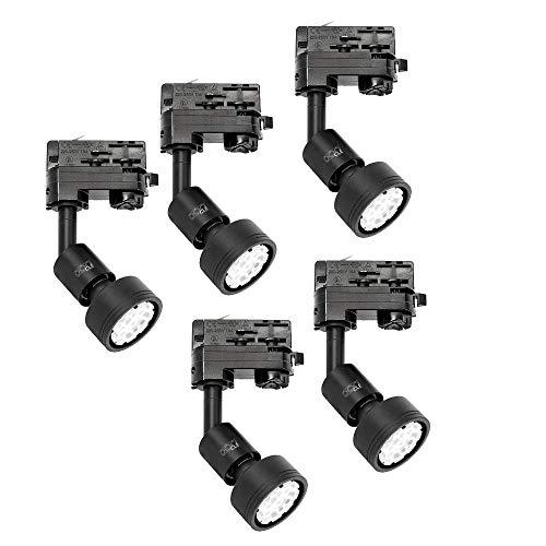 5x CLE PURI LED GU10 schwarz 3 Ph. Stromschienstrahler f. Erco Staff Lival Eutrac Global Schiene max. 50W
