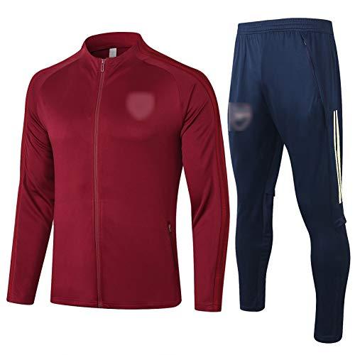 BVNGH Arsenal Football Jersey Training Anzug, 2021 Neue Saison Mode Herren Trainingsanzug, Unisex Langarm-gedruckte Sporthemden (S-XXL) red-M