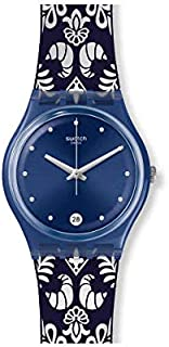 Swatch Womens Analogue Quartz Watch with Silicone Strap GN413