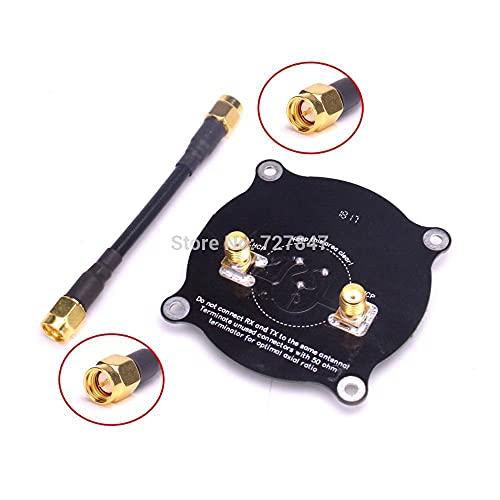 DNKKQ Nuevo 5.8G HZ Triple Feed Patch Antena SMA / RP SMA Antena circularmente polarizada direccional para FPV para Gafas de fatshark para RC para Drone Reemplace dañado ( Color : Antenna SMA )
