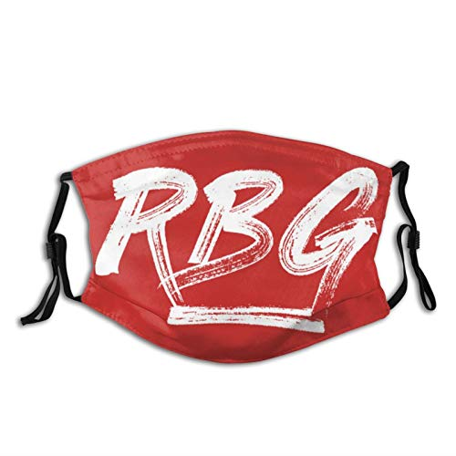 Face Mask Breathable Comfort RBG RED Masks for Outdoor Activities with 2 Filters Black
