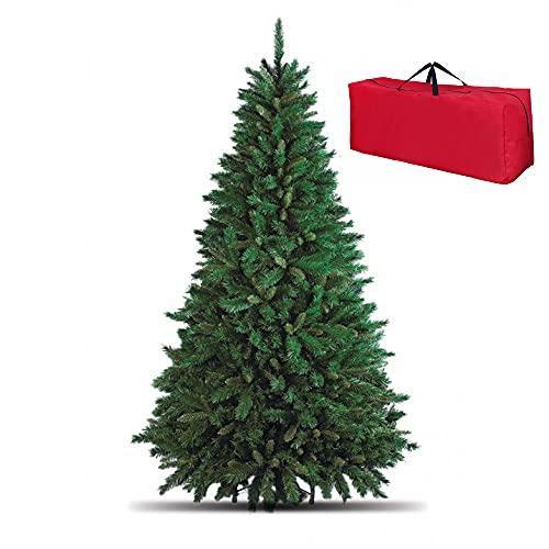 Totò Piccinni Albero di Natale Artificiale NOEL, Folto, Effetto Realistico, Rami a Gancio, Facile Montaggio, PVC, Ignifugo con Borsone (150 cm, Verde)