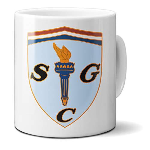 GLICKENHAUS Racing SCG Wappen - Taza de café (cerámica), color blanco