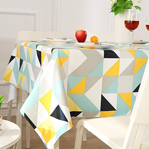 ENCOFT Tischdecke PVC Bunt Wassdicht Anti-Öl Rechteckig Wachstuchtischdecke für das Hotel Restaurant Küche (137x220cm)