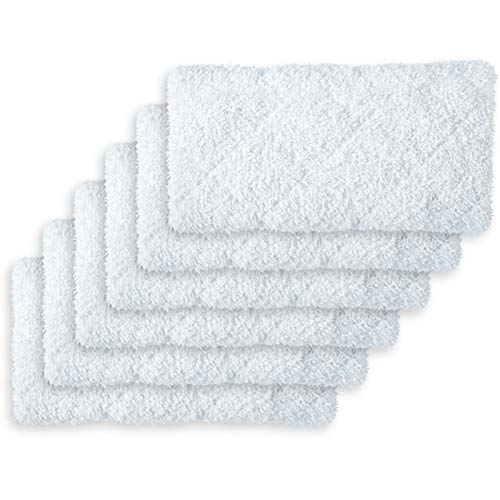 LIGHT 'N' EASY Steam Mop Pads Replacement Reusable Original for S3601/7688ANB/7688ANW/S6/S15(6pcs)