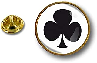 Akacha Spilla Pin pin's Spille spilletta Badge Biker Asso di Fiori Gioco di Carte