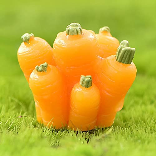 Cute Little Rabbits Pulling Radish mart We OFFer at cheap prices Outdoor Stat Series Figurines