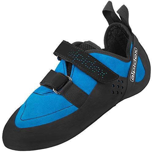 ALPIDEX Kletterschuhe für Damen und Herren mit Klettverschluss und Vibramsohle XS Edge, asymmetrisch, mit Vorspannung - Größe: 38 EU