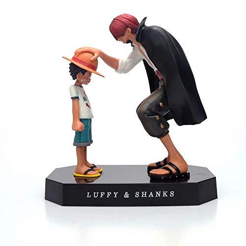 One Piece Action Figure Luffy/Shanks/Ace/Sabo Figurine One Piece Resin Toy Doll - Cadeau d'anniversaire de Noël pour Enfants