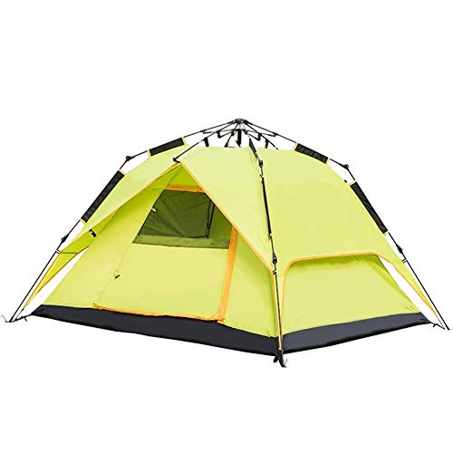 Haikellos 3-4 Personen Zelt Outdoor Quadratisch Oben Höhen Camping Automatik Familie Camping Zelt Obstgrün