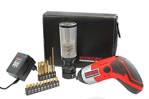 MyWork Professional Tools MyWork 36BSMW,Akkuschrauber + Korkenzieher 3-6V-Li-Ion,3Nm, 200-U-Min