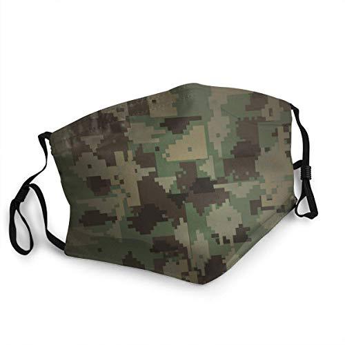 Pañuelo para deportes de color verde militar, resistente al viento, M-Ask, para adultos, niños, color negro