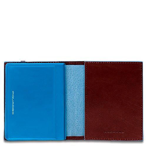 Piquadro PP1395B2/MO Porta carte di credito, 10 cm, Mogano