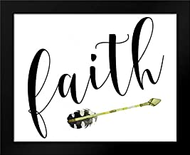 Faith with Arrow Framed Art Print by Moss, Tara
