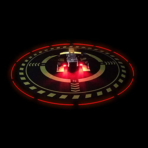 Drones Landing Pad with LED Light for DJI Mavic/Spark/Phantom 3/Phantom 4PRO/PRO/Mavic Air 2 (Diameter70cm/27.6inch)