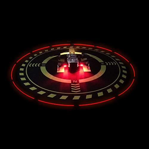 Drones Landing Pad with LED Light for DJI Mavic/Spark/Phantom 3/Phantom 4PRO/PRO/Mavic Air 2 (Diameter70cm/27.6inch)