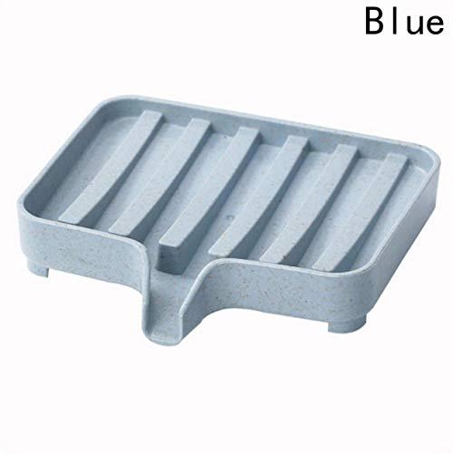 dyudyrujdtry waardig wastafel Zeep Vaatwasser, Badkamer Zeephouder voor douche, Drain Zeep Dish Case, Sink Deck Badkuip Decoratief, Rechthoekige Beste Bar Zeep Container Plastic Vaatwasser, Scrubbe