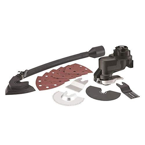 Black+Decker Multievo Oszillier-Kopf (Multifunktionswerkzeug-Zubehör, werkzeugloser SuperLok-Zubehörwechsel, automatische Staubabsaugung, für Ausbau und Renovierungen) MTOS4