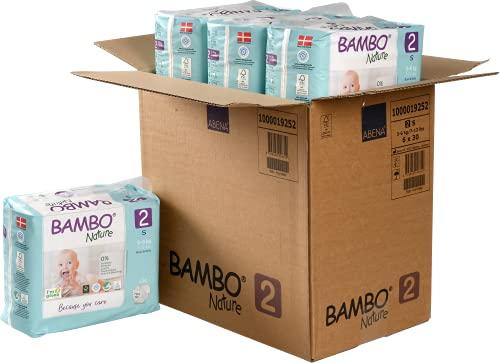 Pañales Bambo Nature Talla 2 – 3 a 6kg (PACK 6 x 30UN)