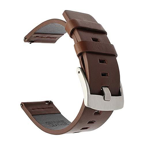 LiQinKeJi8 Correas de Reloj Correa de Banda de Reloj de Cuero de 20 mm 22mm for Samsung Galaxy Watch 3 41mm 45mm Active2 40 44mm Reloj de Reloj Relojes rápidos 18mm 24mm para los Hombres