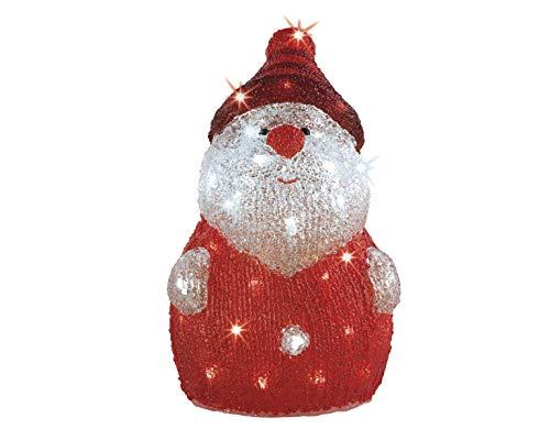"LED Beleuchtung\""Santa Nikolaus\"" Weihnachtsbeleuchtung außen Weihnachtsfigur Garten Beleuchtung Weihnachten Outdoorfigur Gartenfigur"